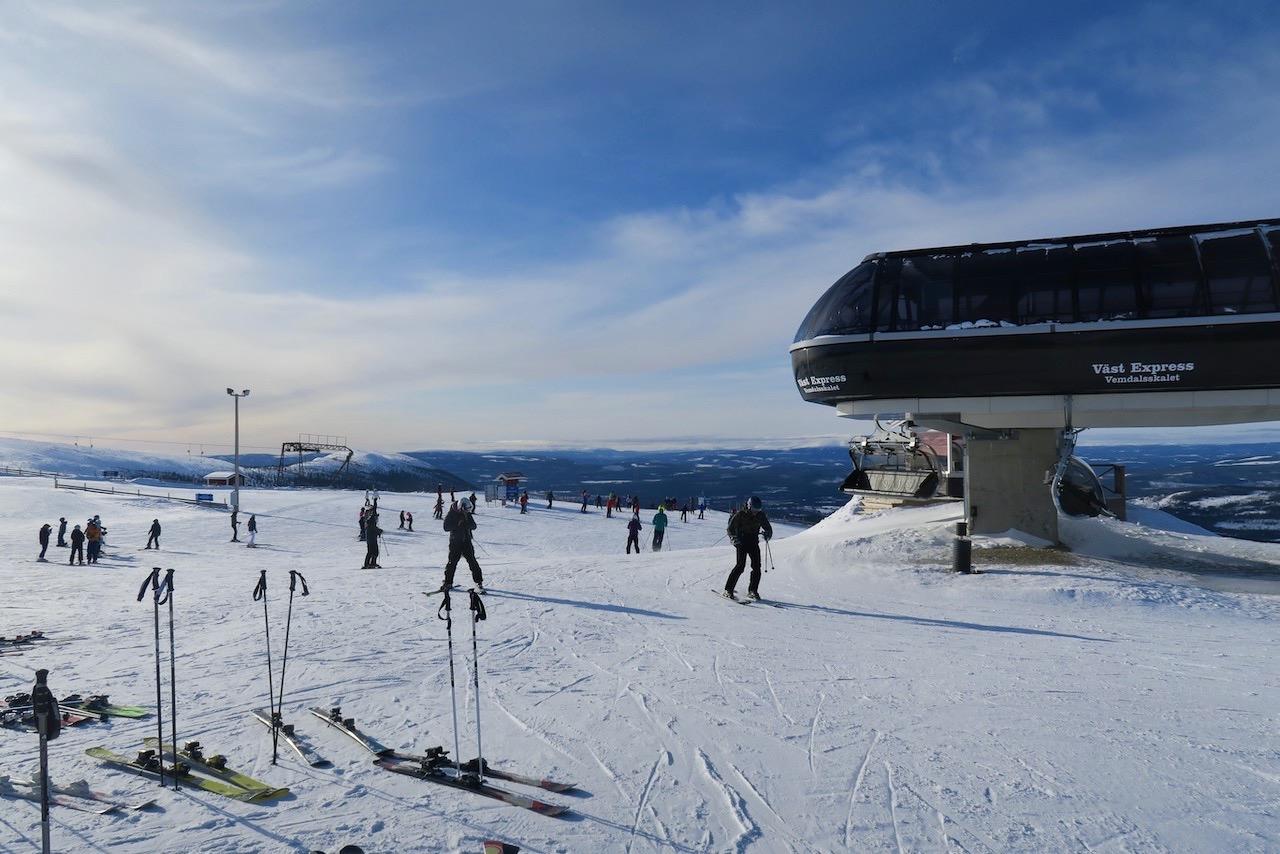 Fin skidåkning här i Vemdalen och perfekt väder.