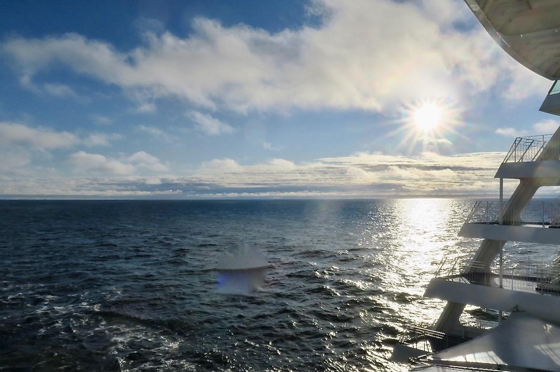 Ålands hav och vi är på väg tillbaka till Stockholm.