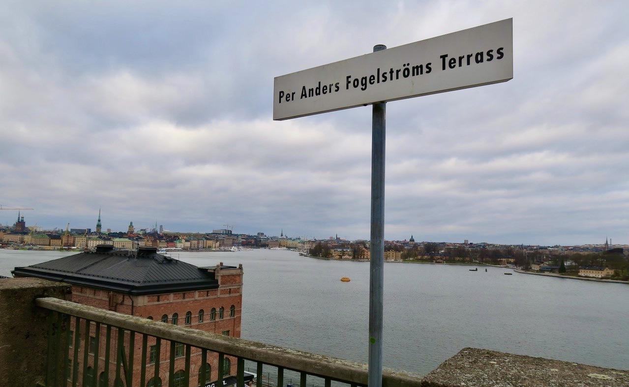 Fjällgatan och Per Anders Fogelströms Terrass.