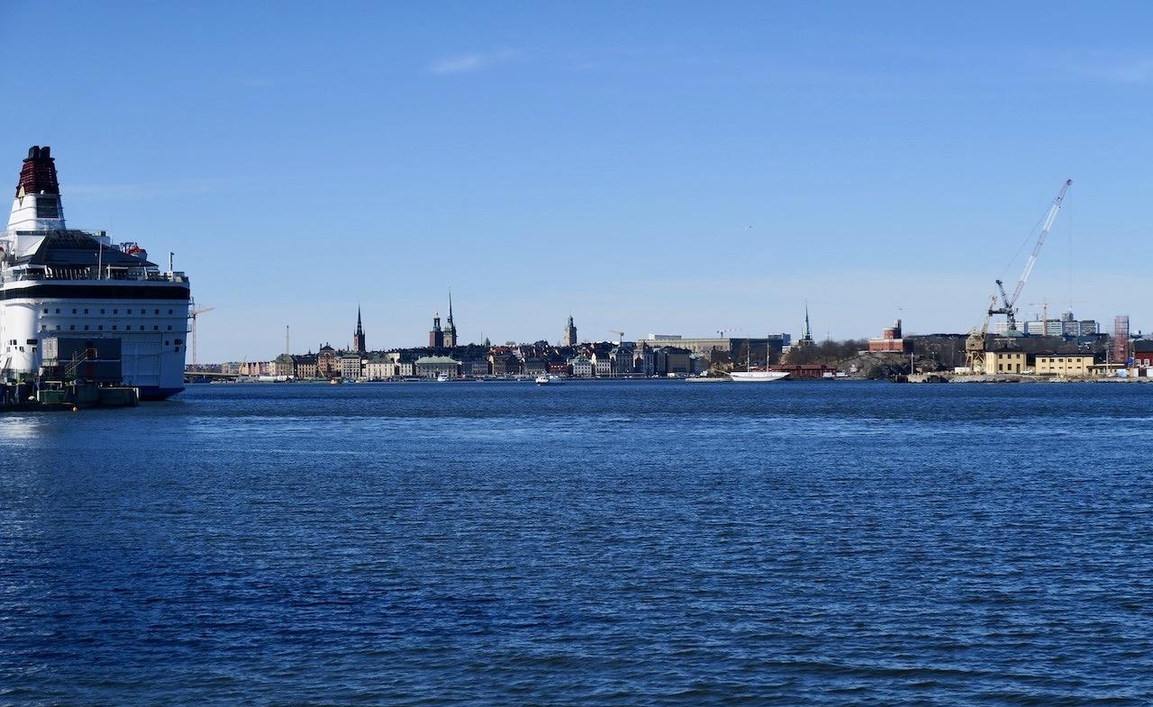 Vi startar promenaden mot Finnboda varv och området där från Danvikstull/Saltsjökvarn