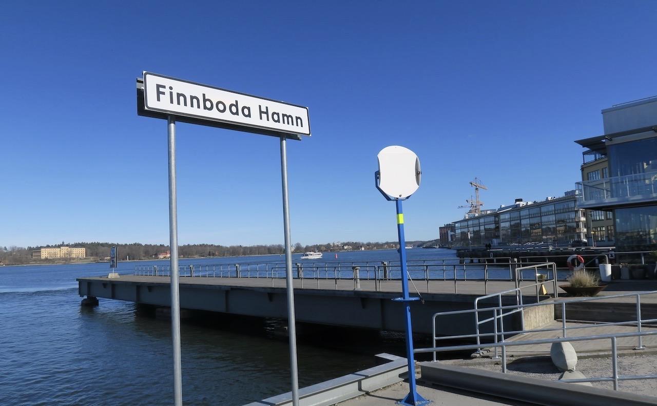 Finnboda hamn blev namnet på det nya området med kontor och bostäder