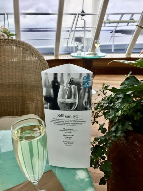 Birka Cruises,Stillsam lyx på vägen tillbaka till huvudstaden. Bubbel, korsord, en god bok och njutbar utsikt.
