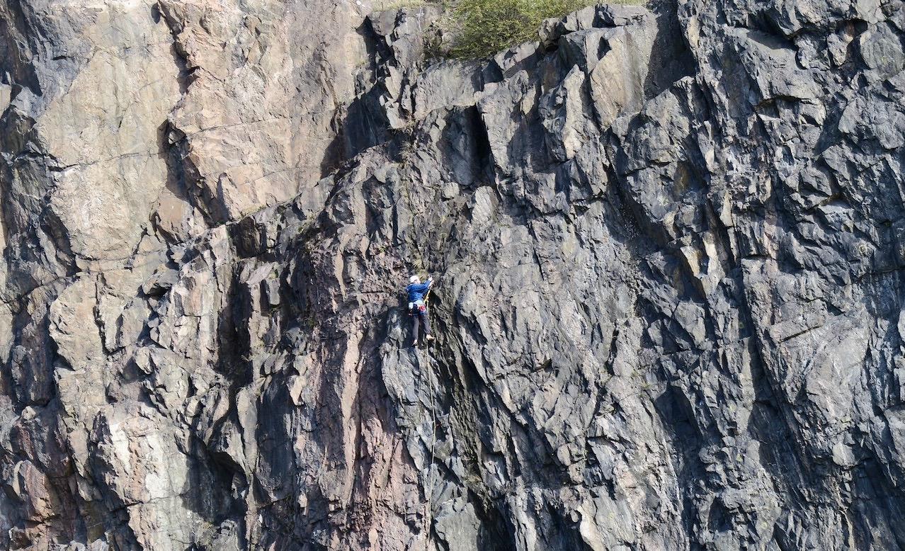 Funderade ett tag på om klättring kunde vara en god sysselsättning för min del.