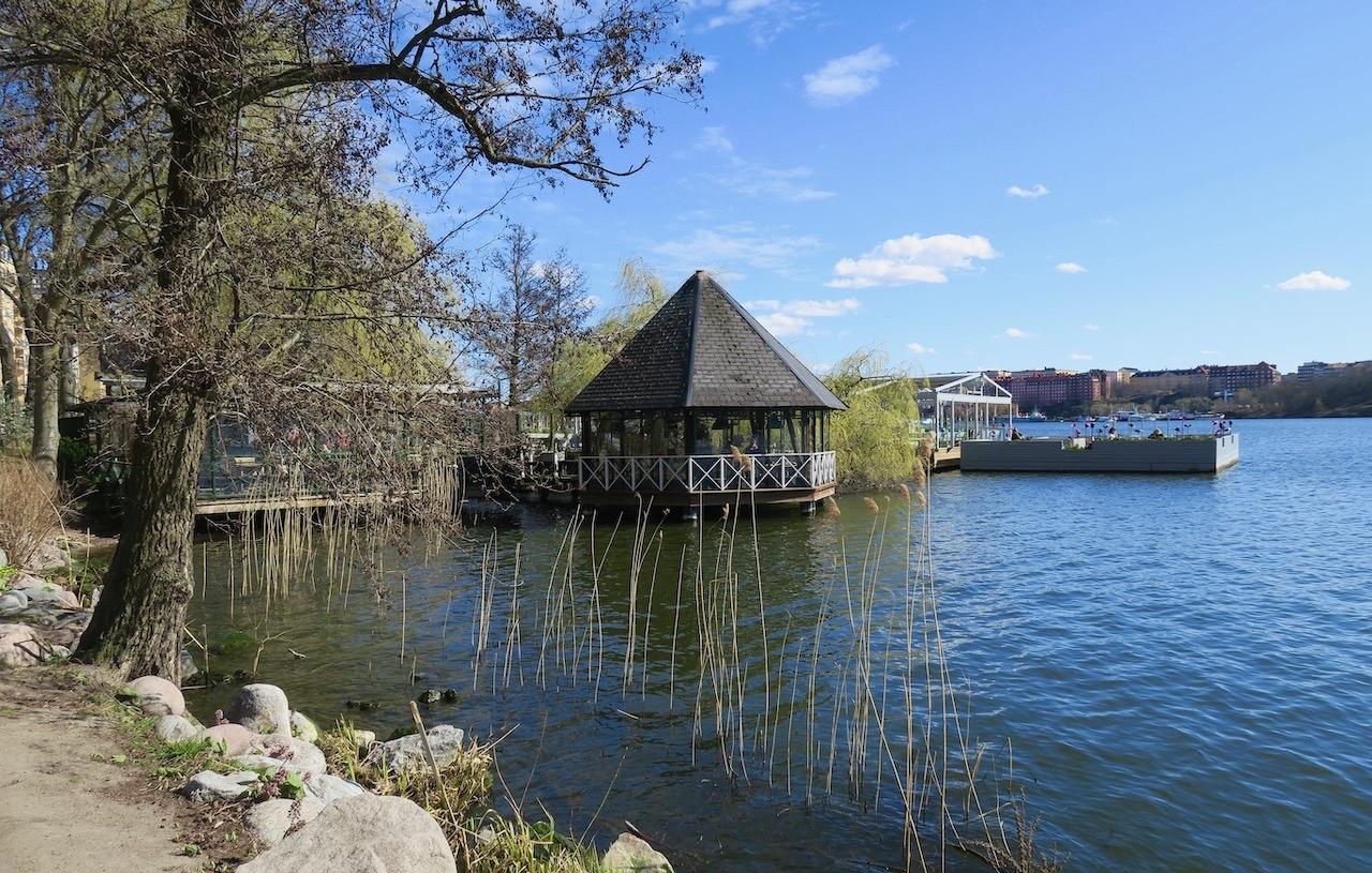 Mälarpaviljongen. Ett trevligt ställe att slå sig ner på vare sig man är turist i stockholm eller ej.