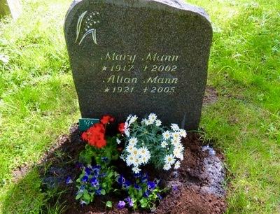 Visst är Norge och rött, vitt och blått med även idag på mina föräldrars grav.