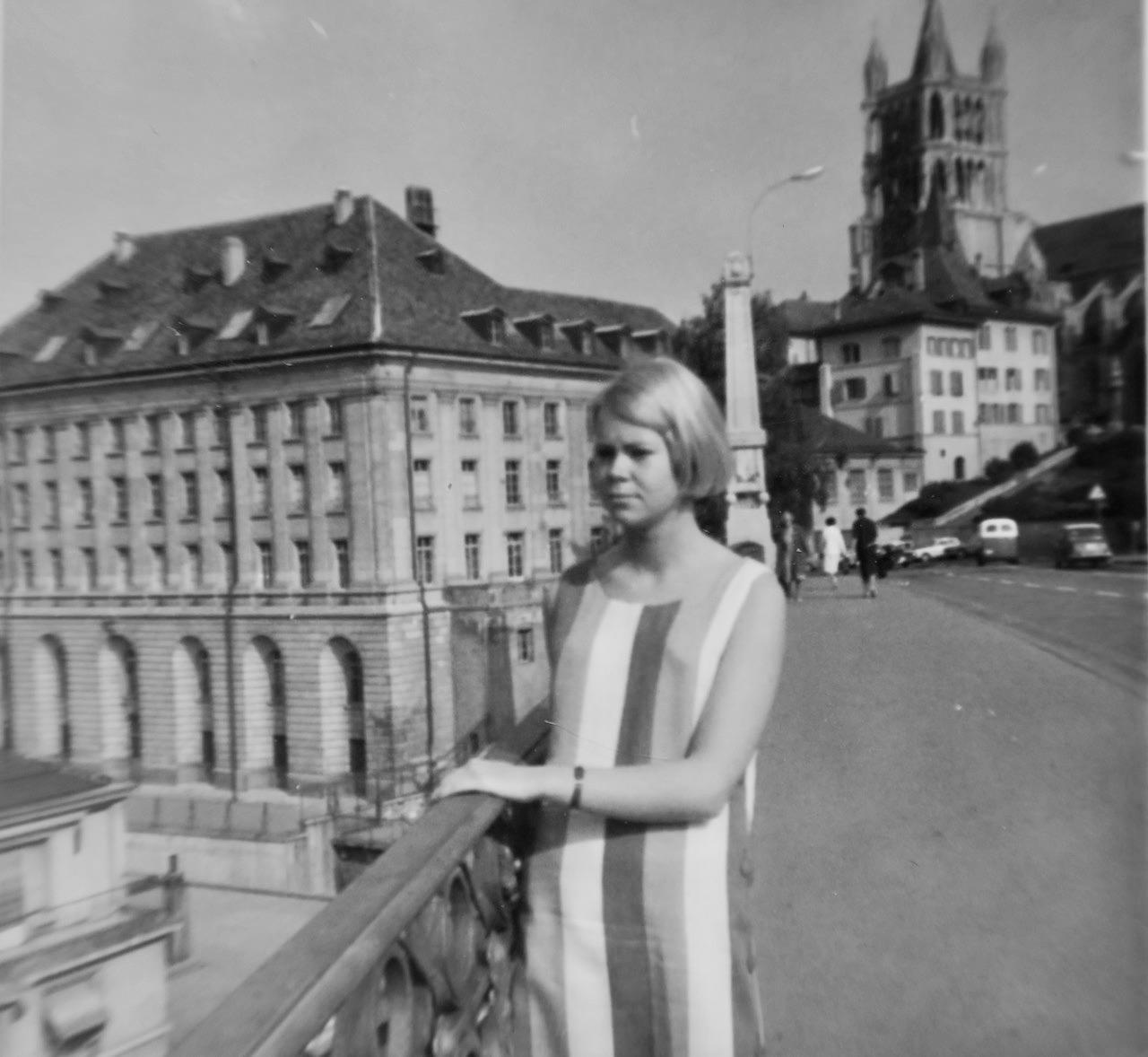 Plugg av franska i Lausanne några sommarmånader 1965.