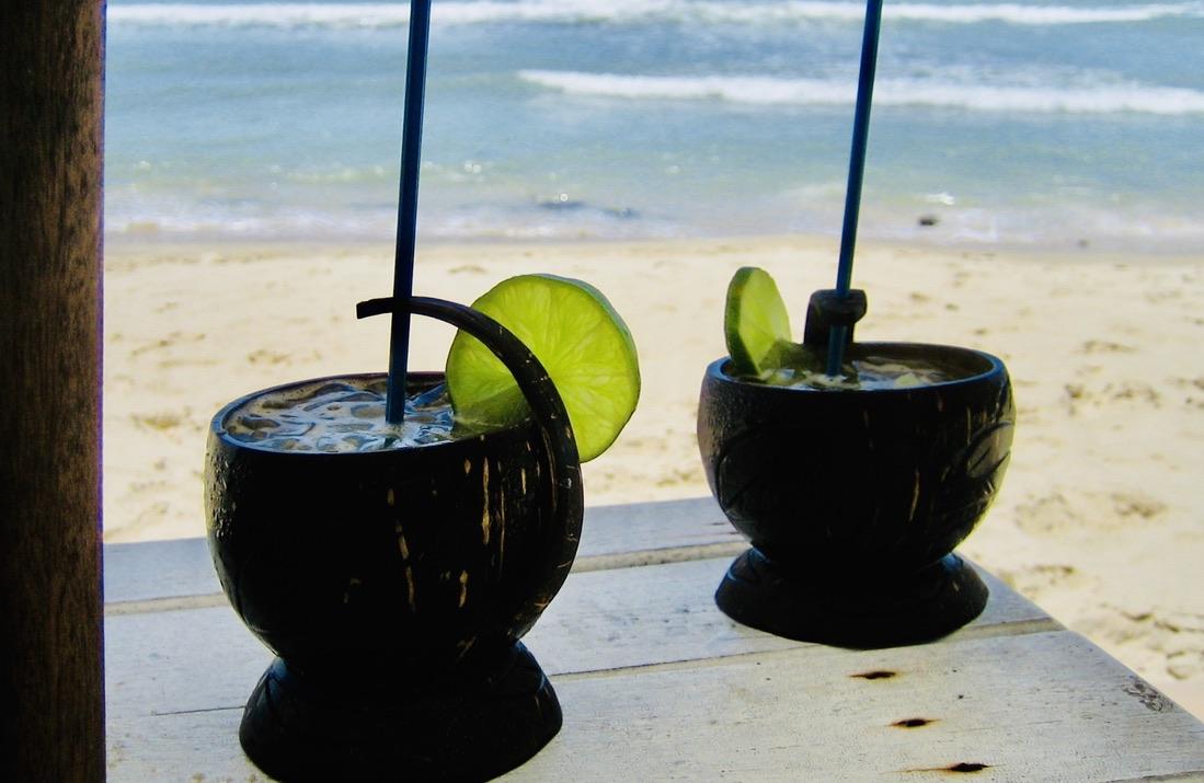 En liten tår kan komma fram i ögat när jag ser tillbaka på alla fina resor vi gjort. Här en strand i Brasilien.