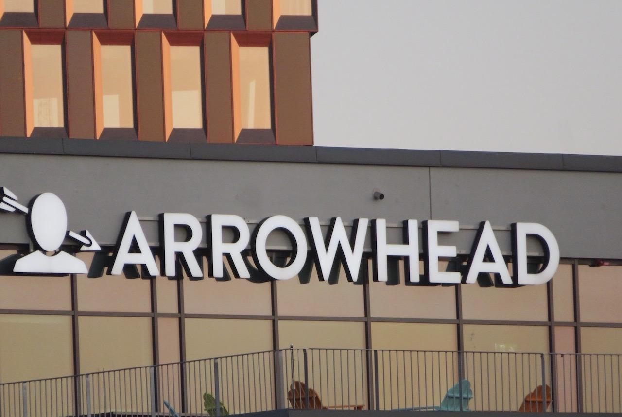 """En vass pil. Ja, pilar brukar ju vara det. Här är den och huvudet """"logga"""" för spelföretaget """"Arrowhead""""."""