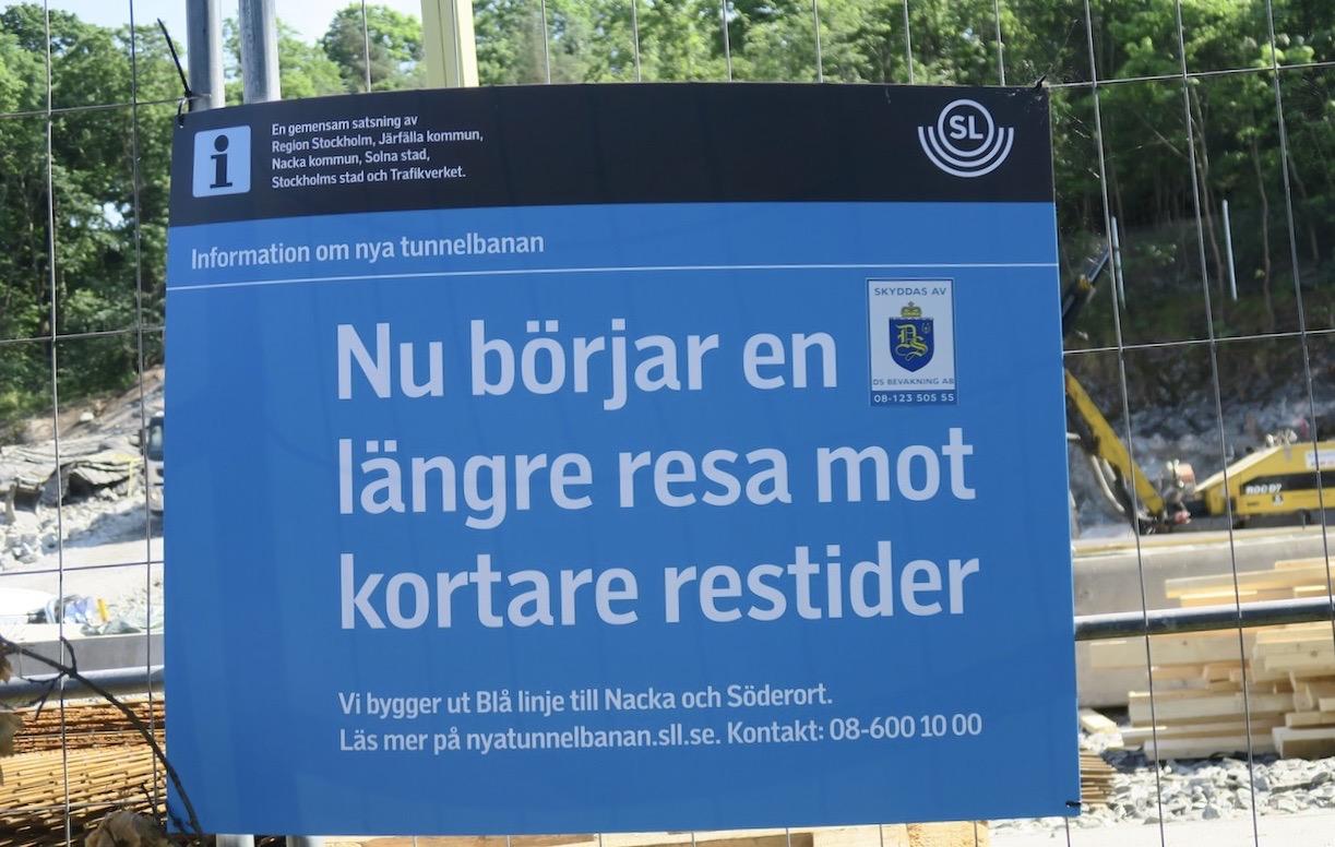 SL gav information om utbyggnaden av tunnelbanans blå linje.