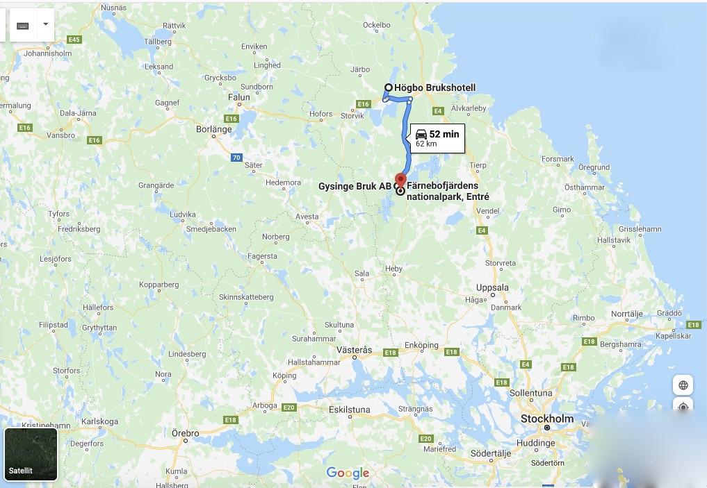 Gysinge Bruk ligger i Sandvikens kommun i Gästrikland och helt nära Färnebofjärdens nationalpark