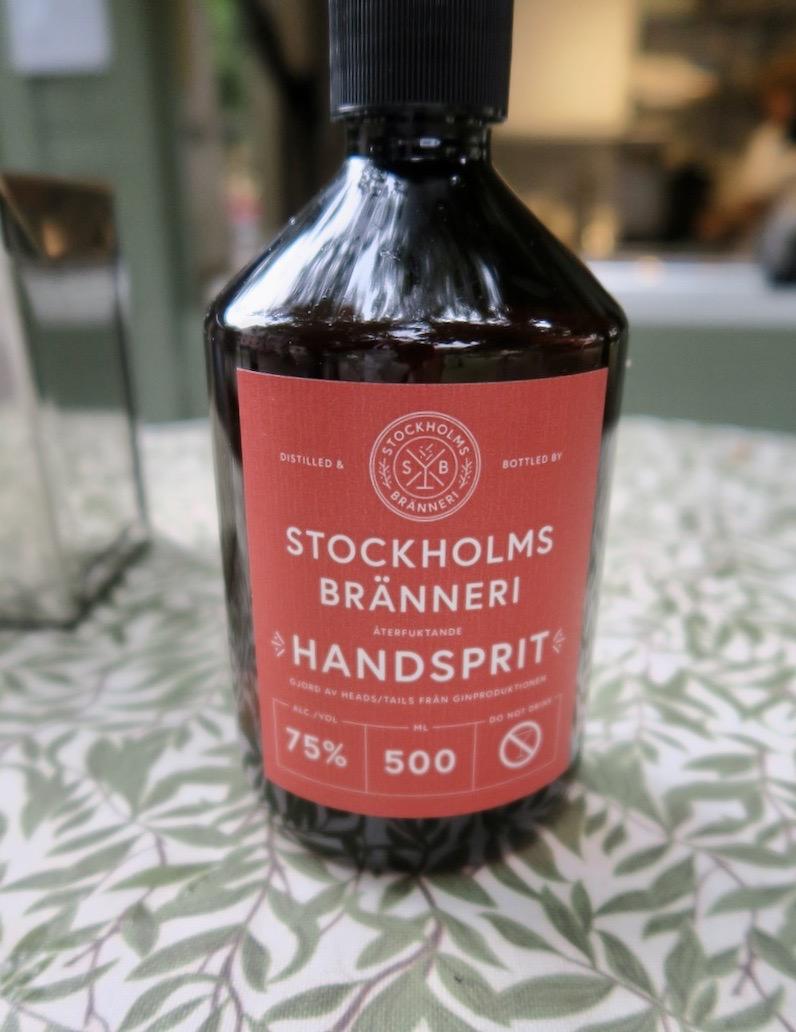 Given att vara med i veckans Söderblandning. Handsprit från Stockholms bränneri på Södermalm i Stockholm.