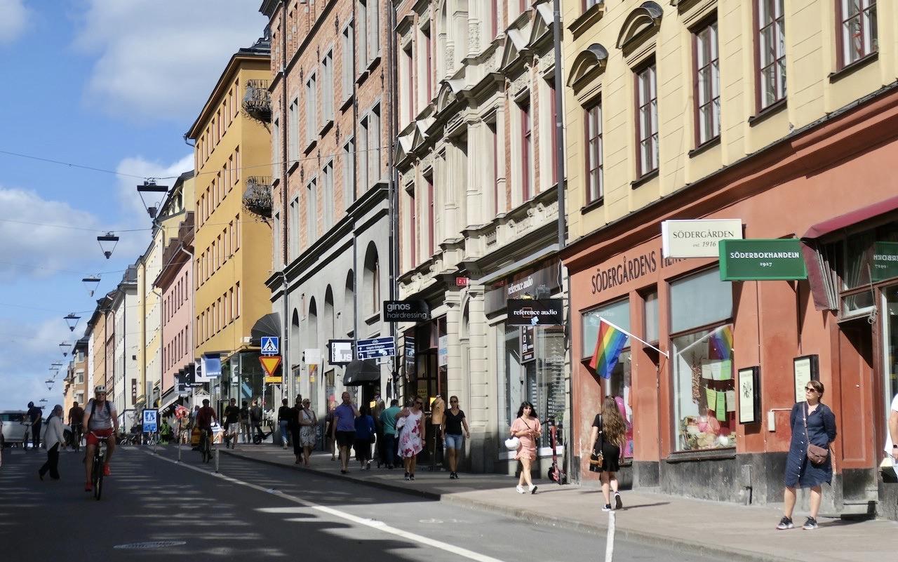 Stockholm . Södermalm. PÅ väg till Gamla stan tar jag vägen över Götgatan och Götgatsbacken.
