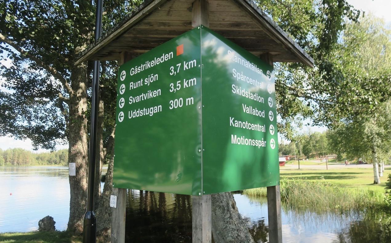 Gästrikland. Högbo bruk. Här vid Dammsjön strtade vi vår rundtur när vi letade svamp-