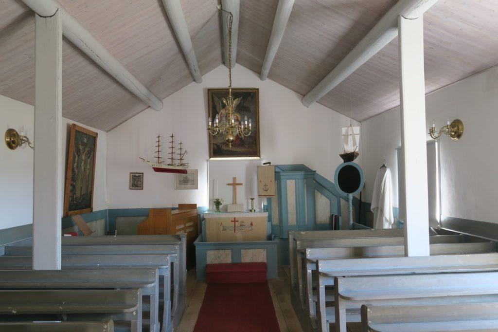 Höga kusten. Skeppsmalen. Ett enkelt kapell som inte enbart hade ett religiöst syfte.