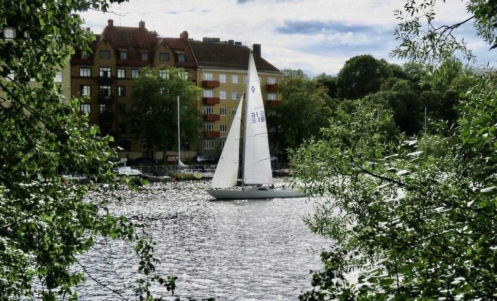 Stockholm. Från Reimersholme ser man söderut över till stadsdelen Gröndal