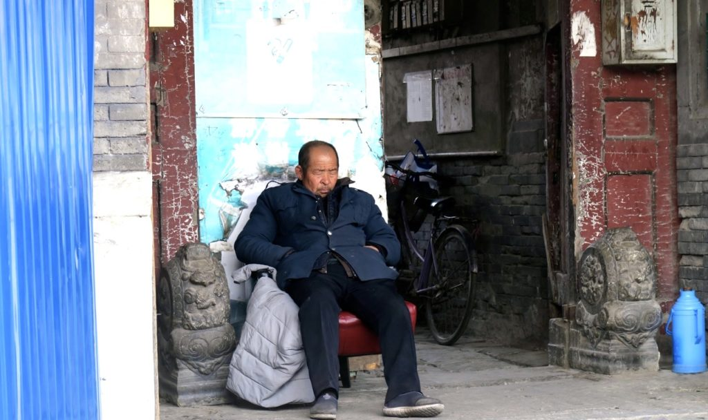 Peking 2018. Visst kan man tanka energi genom att vila sig i form.