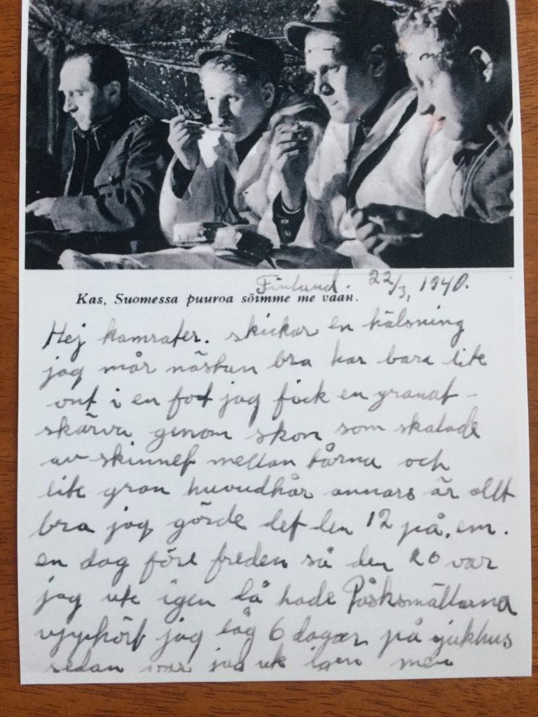 En skatt som är ett fint minne. Skrivet i FInland 1940 av min pappa Allan Mann.