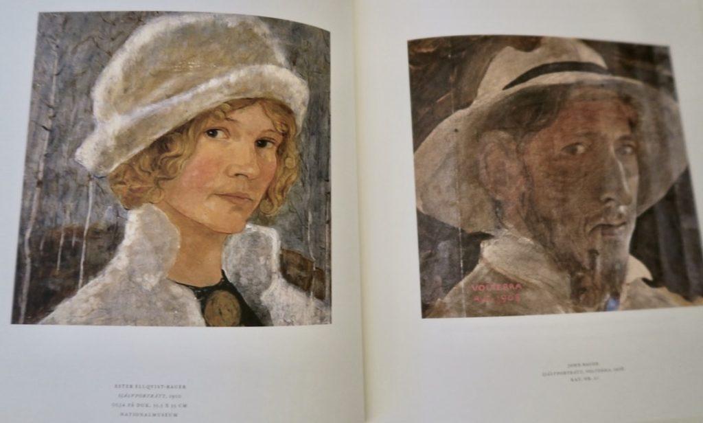 Självporträtt av John Bauer och hans hustru Ester Ellqvist Bauer. Finns i vanliga fall på Nationalmuseum men nu utlånade till utställningen på Waldemarsudde.