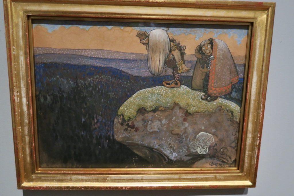 """Waldemarsudde. John Bauer 1907. """"Trollen i Domberget väntar främmande"""""""