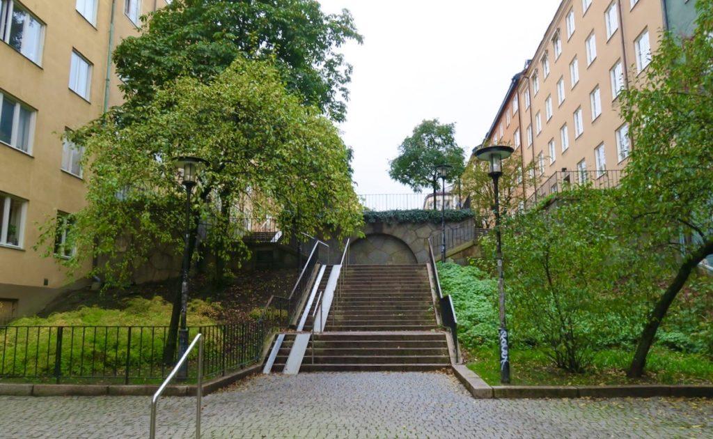 Stockholm. Södermalm. Och att området runt Helgalunden ligger på en höjd syns här tydligt.
