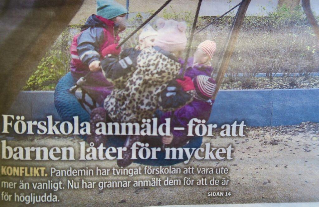 Södermalm. Mer på gång i Stockholm. Klagomål på barn som leker på en förskola.