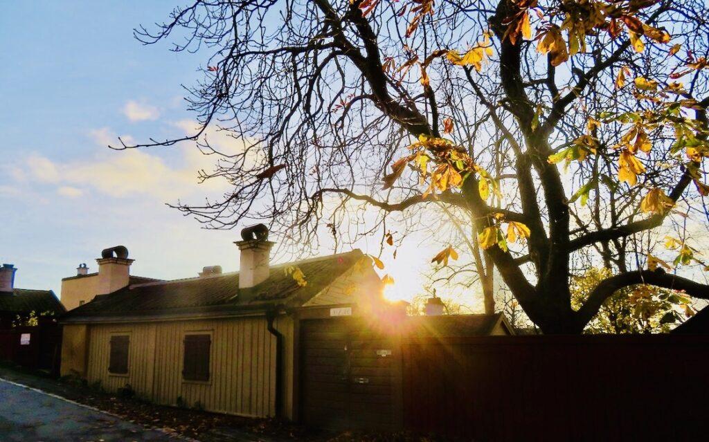 Stockholm. Södermalm. Vita bergen. Jag traskar vidare med solsken i blick. Kanske snarare i motljus.