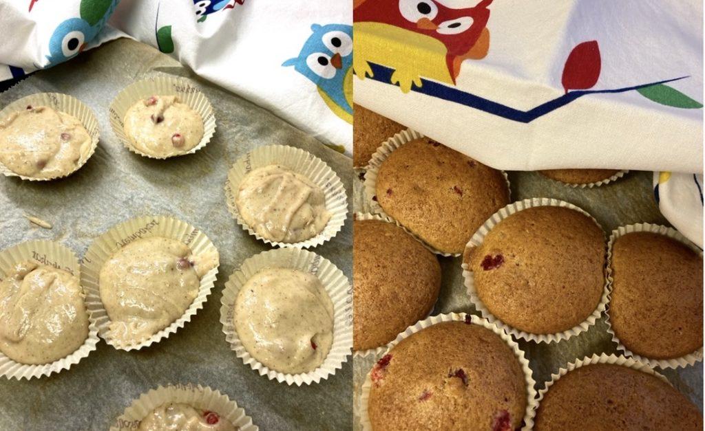 Mjuk pepparkaka. Som omväxling la jag smeten i muffinsformar.