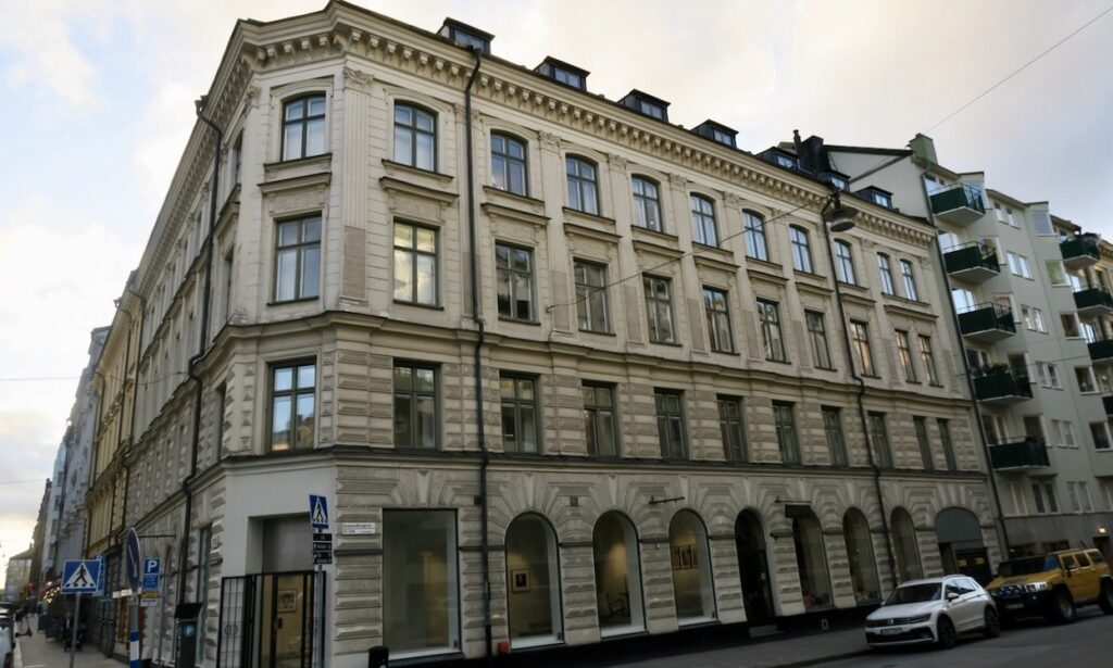 Stockholm. Östermalm. Mycket spännade och intressant har avhandlats här i C-byrån, hemlig militär underrättelseorganisation, under andra världskriget.