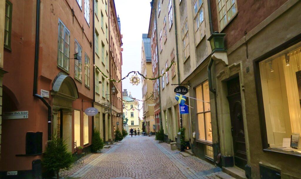 Stockholm. Gamla stan och Köpmangatan. Ingen trängsel på min väg från City till Södermalm och via Gamla stan
