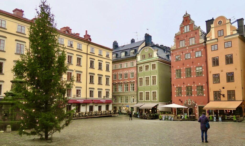 Stockholm. Gamla stan. Stortorget. Och det var här Stockholms blodbad ägde rum 1520.