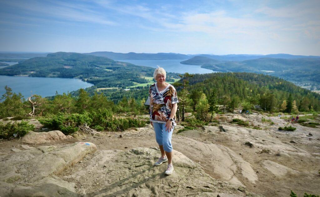 Ångermanland- Höga kusten och Skuleberget. Vacker utsikt och vackra färger.