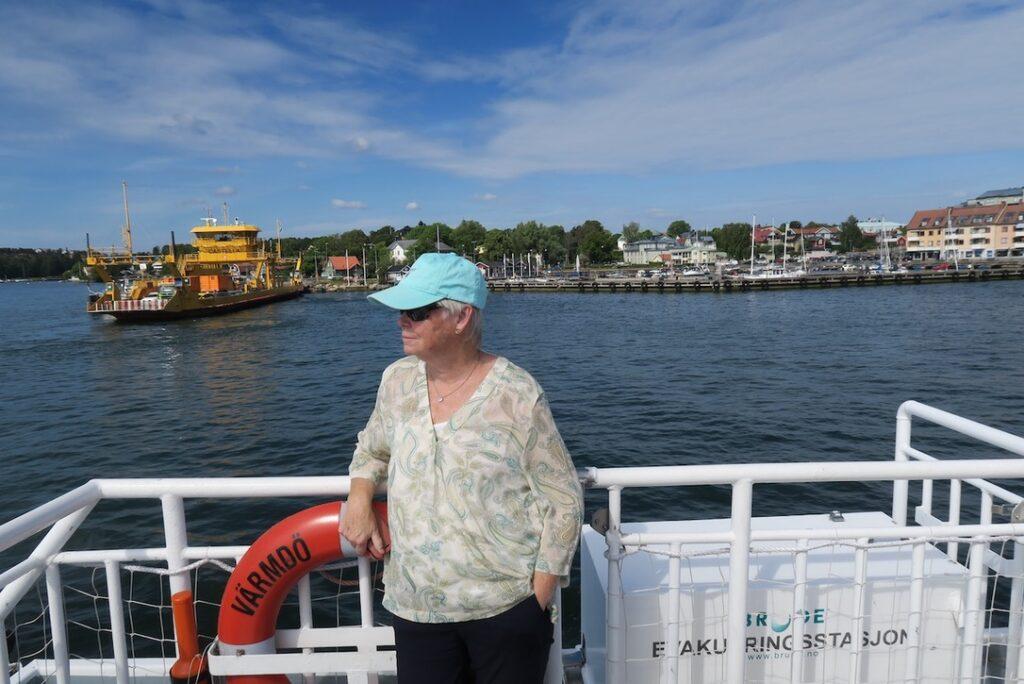 Vaxholm. Premiär i augusti år 2020 för SL:s nya pendelbåtslinje mellan Strömkajen och Vaxholm.