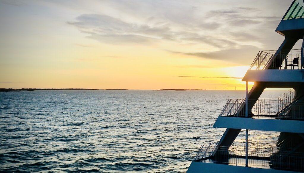 Ålands hav. Aret 2020 inledde vi men att under nyårshelgen göra en kryssning med Birka Stockholm.