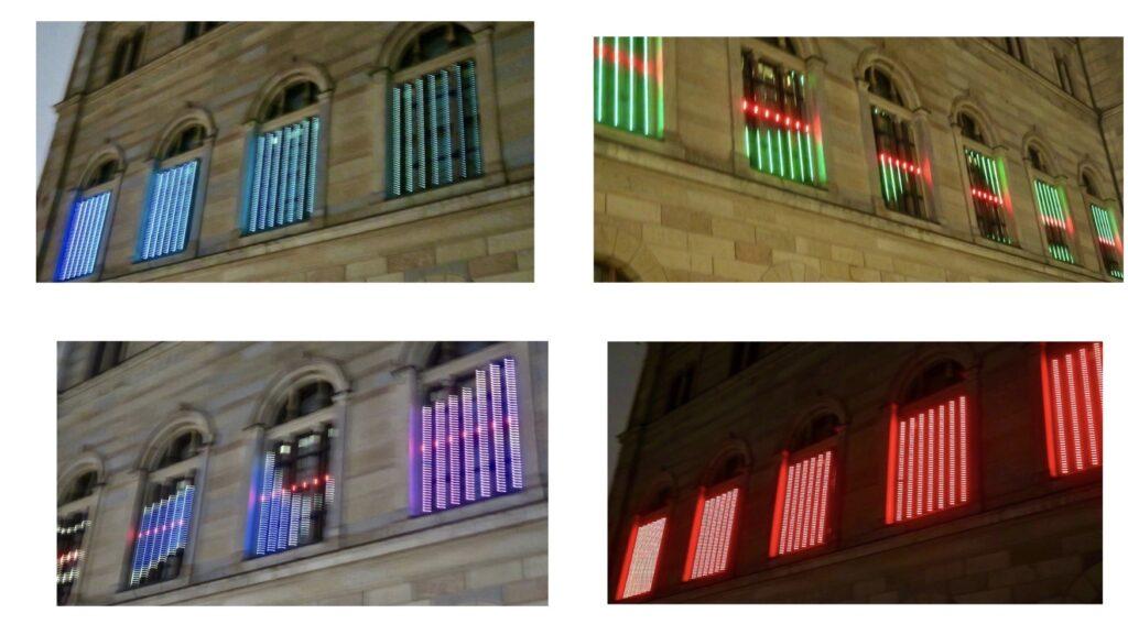 """Stockholm . Nationalmuseum. """"Brilliance"""" en ljushyllning inspirerad av den utställning som pågår på Nationalmuseum """"Pär Engsheden och Sara Danius Nobelklänningar. """""""
