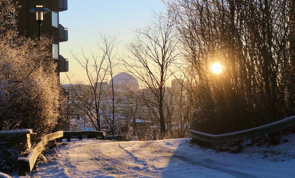 Stockholm. Danviksklippan. Ansolut njutbart att stå här och se solen sänka sig i väster.