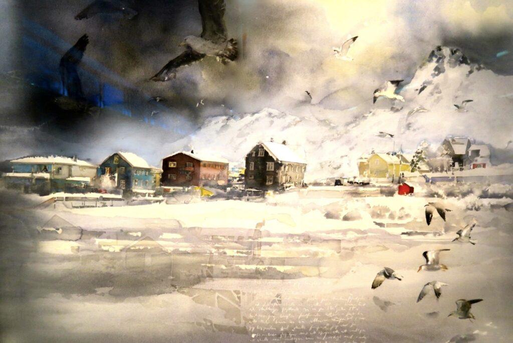 Karlstad. Sandgrund. Vad gäller ljus är akvarellmålaren Lars Lerin fantastisk på att fånga det.