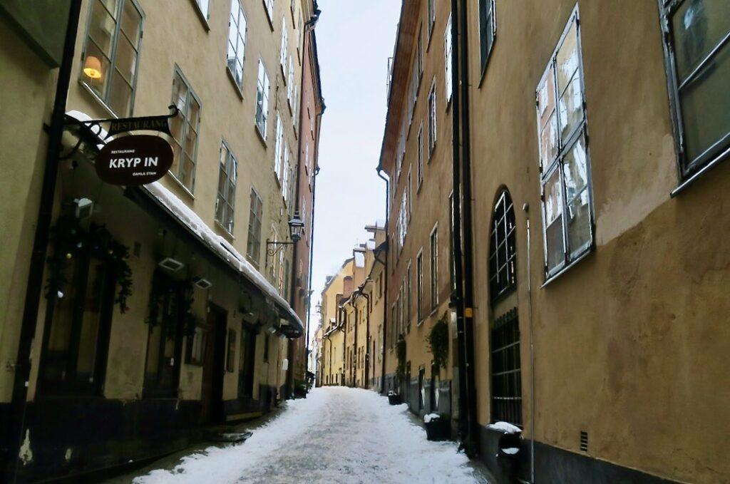 Stockholm. Prästgatan. Här var jag ten turist i Gamla stan. Helt ensam.