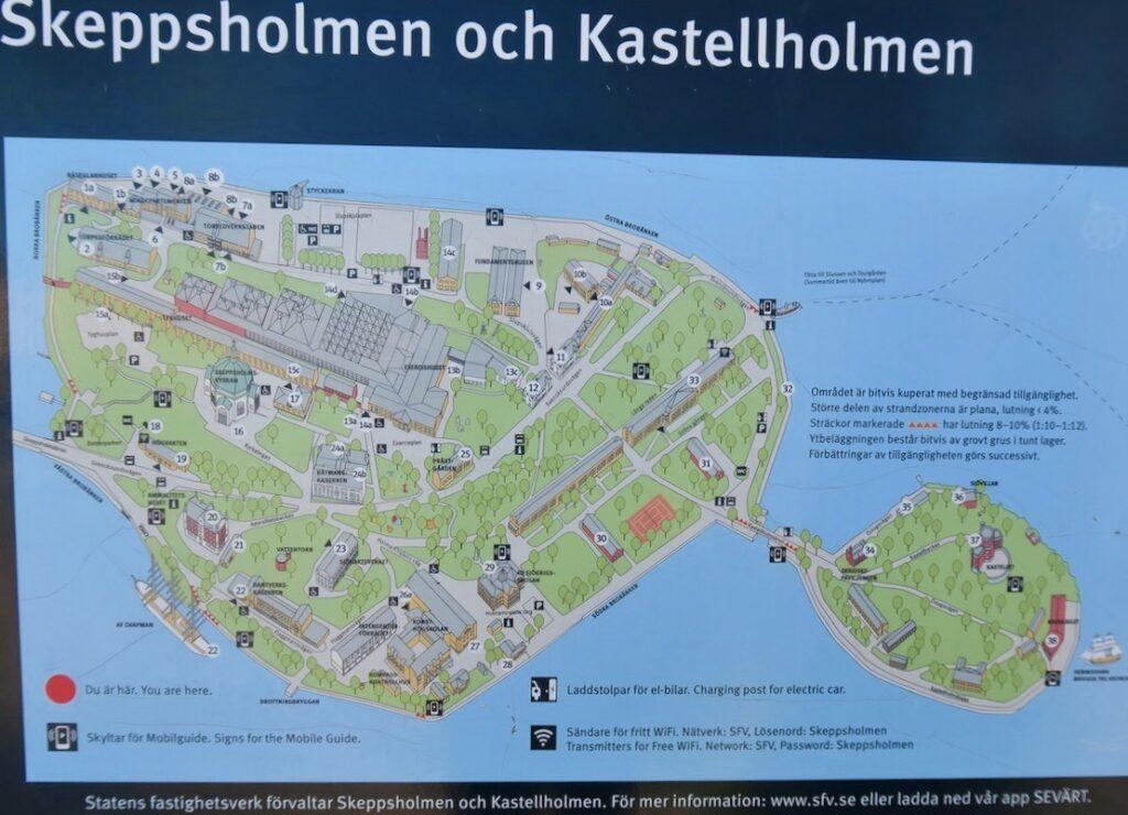 Stockholm. Skeppsholmen och Kastellholmen.En av veckans händelser var rundvandringen här.