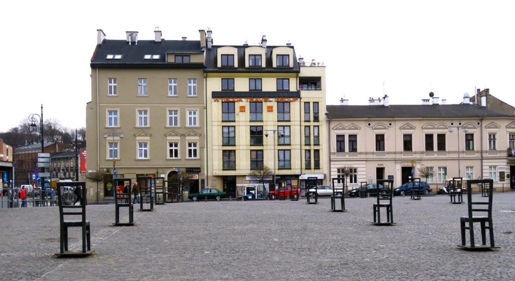 Polen. Krakow. Gettots hjältads torg. Ytterligare en plats/område som kom att beröra mig.