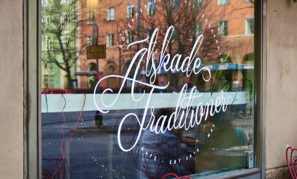 Stockholm. Södermalm. Café Älskade Traditioner.