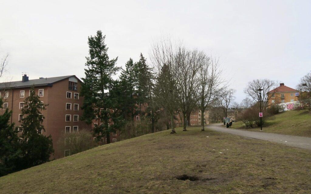 Stockholm.Södermalm Passerade en del av Tjurbergsparken på vägen hem.
