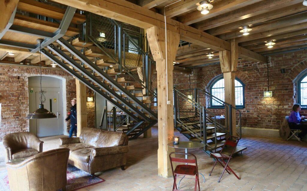 Syockholm. Café Vinterviken är inrymd i den gamla dynamitfarbriken.