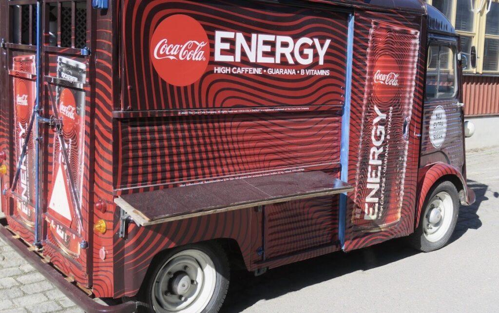 Nacka strand.Sett i veckan. En Foodtruck som säljer massor av energi.
