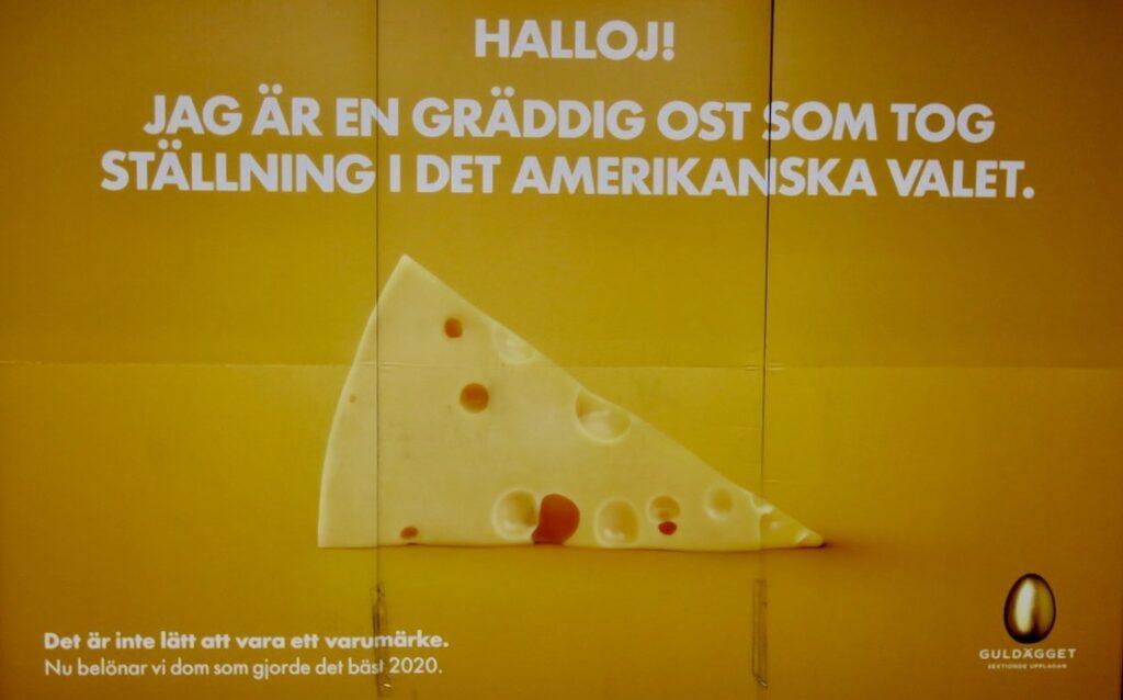 Stockholm. Sett i veckan. Olika reklamskyltar som varit med i tävlingen Guldägget om de bästa reklamskyltarna.