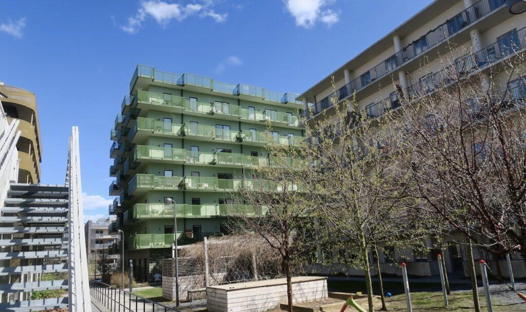 Stockholm. Norra Djurgårdsstaden. Här kommer det att finnas omrkring 12 000 lägenheter när området är utbyggt.