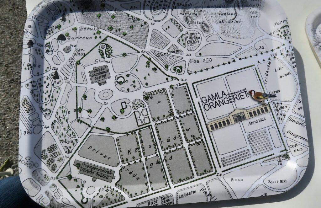 """Stockholm. Bergianska trädgården. Här på """"orangeriet"""" var brickorna också vägvisare."""