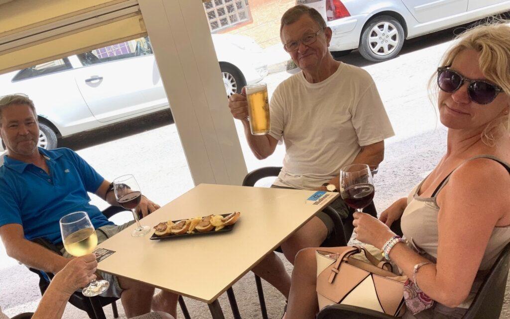 Torrevieja och tapasträff med vänner på El Tapeo- Gott och väldigt trevligt