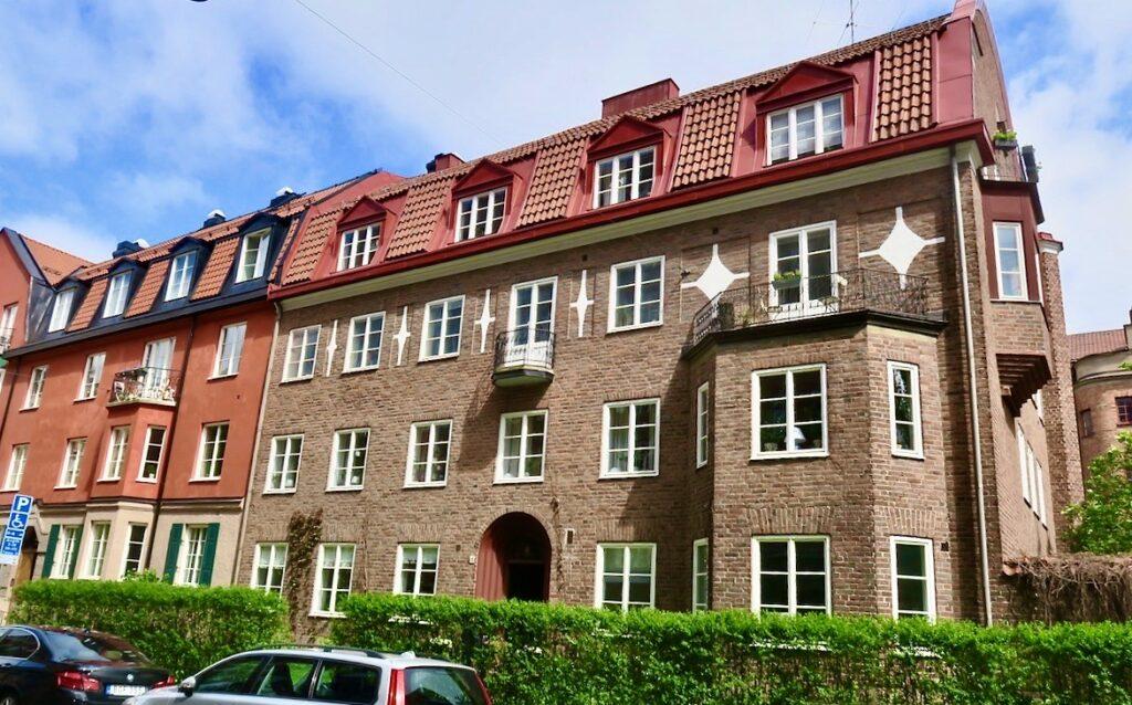Stockholm. Lärkstan- Bragevägen. Några typiska townhouses