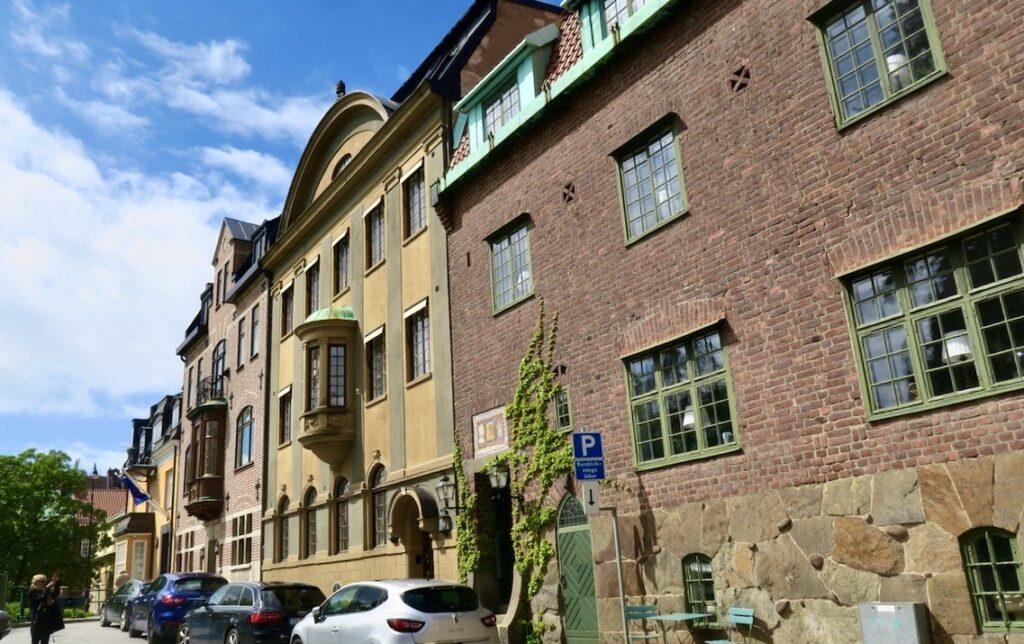 Stockholm. Östermalm. Lärkstan- Tyrgatan- Spännande detaljer finns på alla hus här.