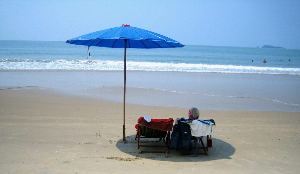 Thailand. Chackpong Beach. Har planer på dyka ner i havet.